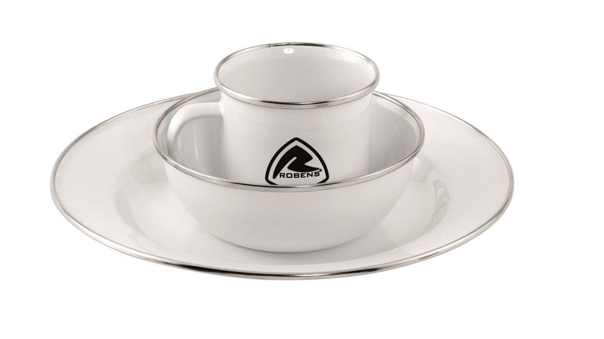 Mooi Servies Set Robens Tongass Emaille Servies Set 1 Persoons 1 Stuk S