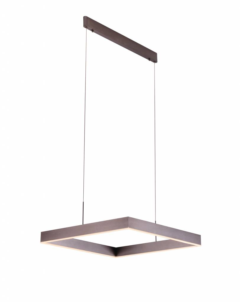 Hanglamp Led Design Hanglamp Vierkant Design Led Bruin Zwart Wit 31w