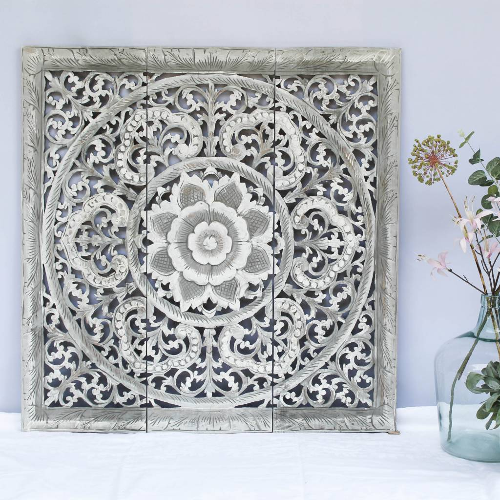 Wandpanel Wandpaneel Design Ornament Authentiek Houtsnijwerk Simply Pure