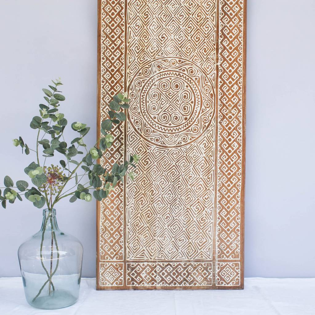 Wandpanel Wandpaneel Design Timor Authentiek Indonesisch Houtsnijwerk Simply Pure