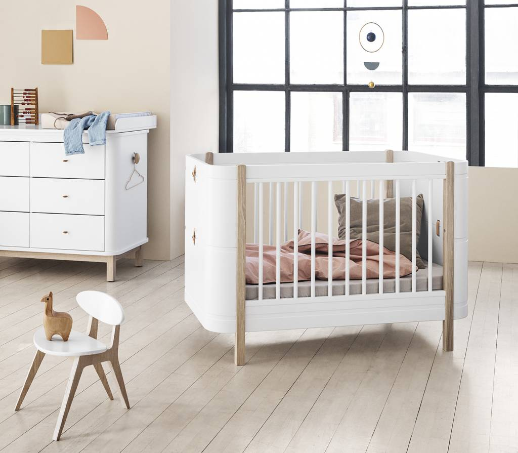 Kinderbett Hoch Oliver Furniture Wood Mini Babybett Weiss Eiche Romy