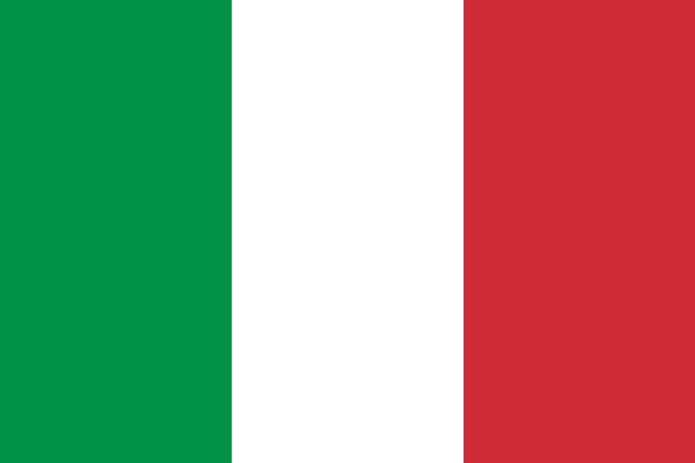 Italy flag vector - country flags