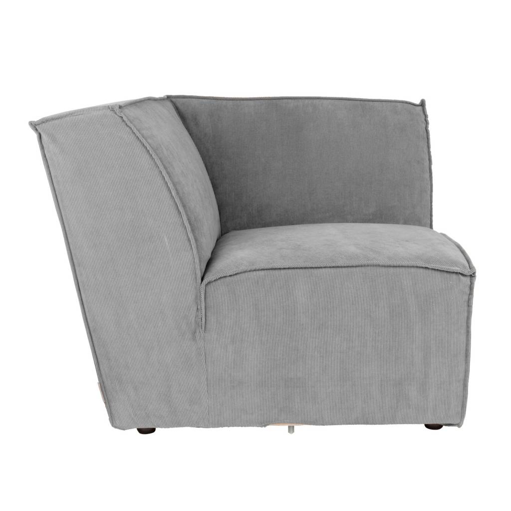 Bank Met Ribstof Sofa Corner Element James Cool Gray Rib Fabric 91x91x74 Cm Wonen