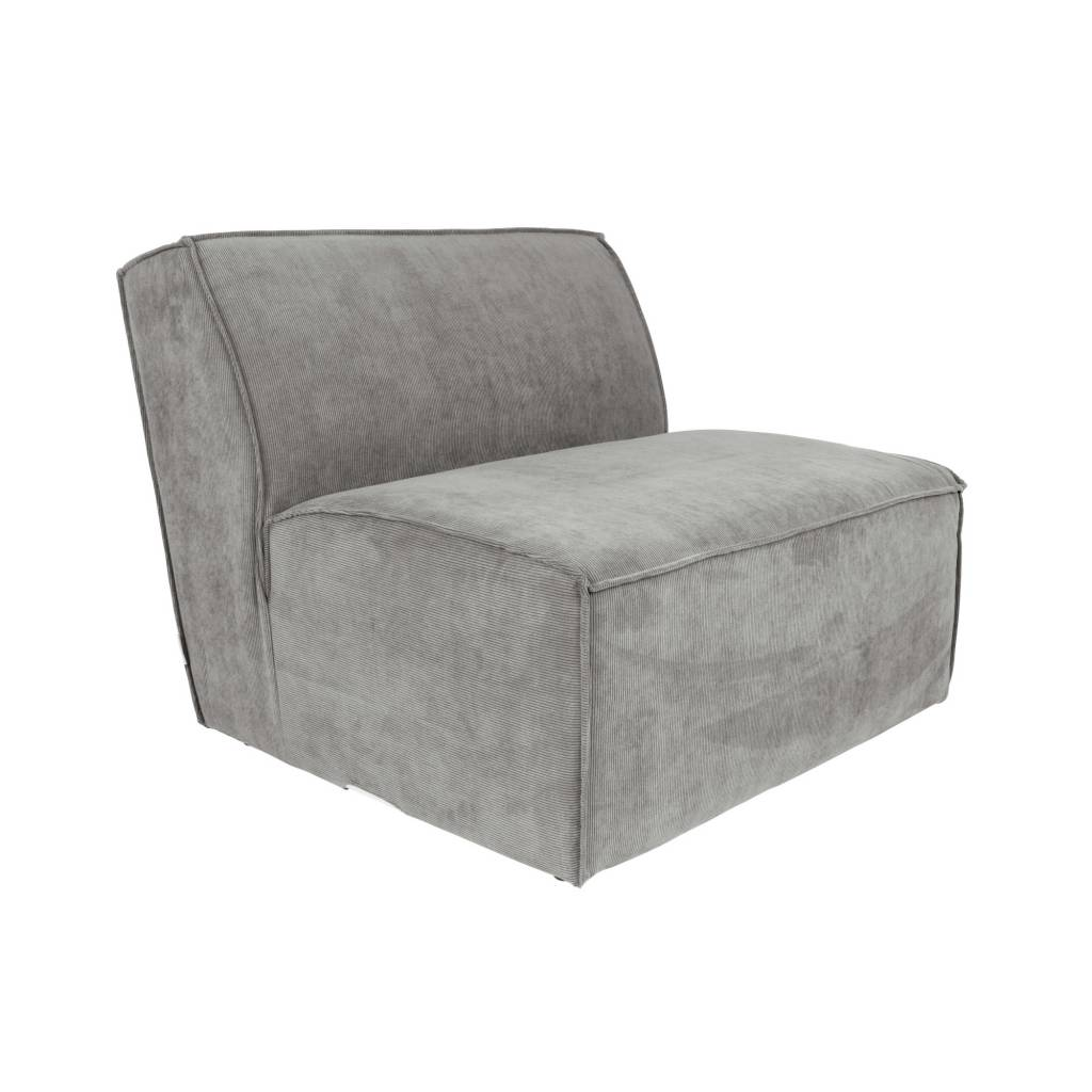 Bank Met Ribstof Sofa Element James Cool Gray Rib Fabric 86x91x74cm Wonen Met Lef