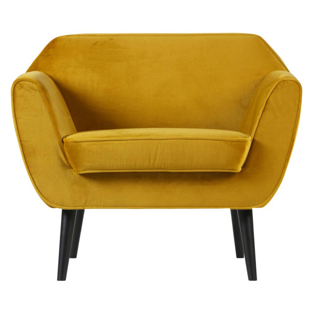 Fauteuil Club Jaune Lef Collections Fauteuil Rocco Velours Jaune Ocre Polyester