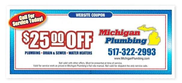 Instant Coupon Lansing Michigan Plumbing