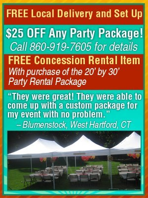 Rental Packages Southington, CT - EZ Party Rentals - party rental flyer