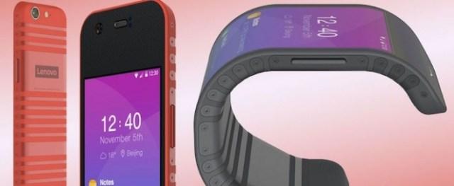 Lenovo'nun Büklüm Büklüm Tableti ve Telefonu