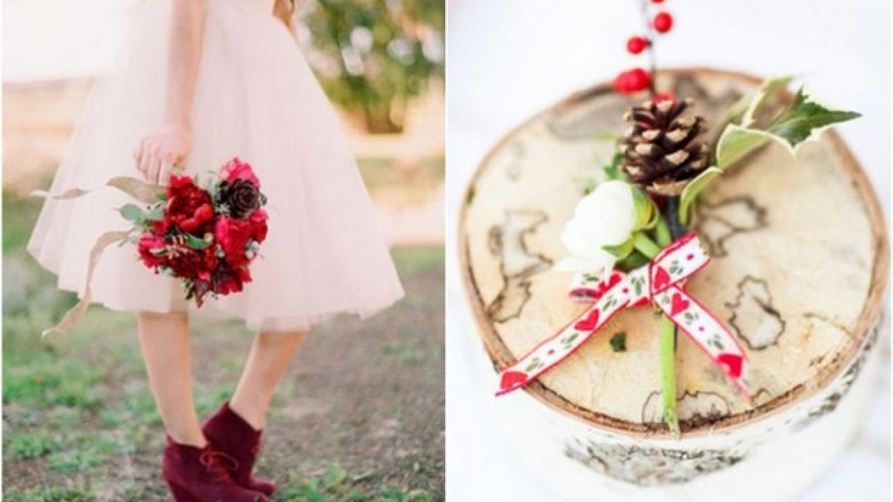 Festive Wedding Inspiration Romantic Rustic Red Gold Green Colour Palette Weddingsonline