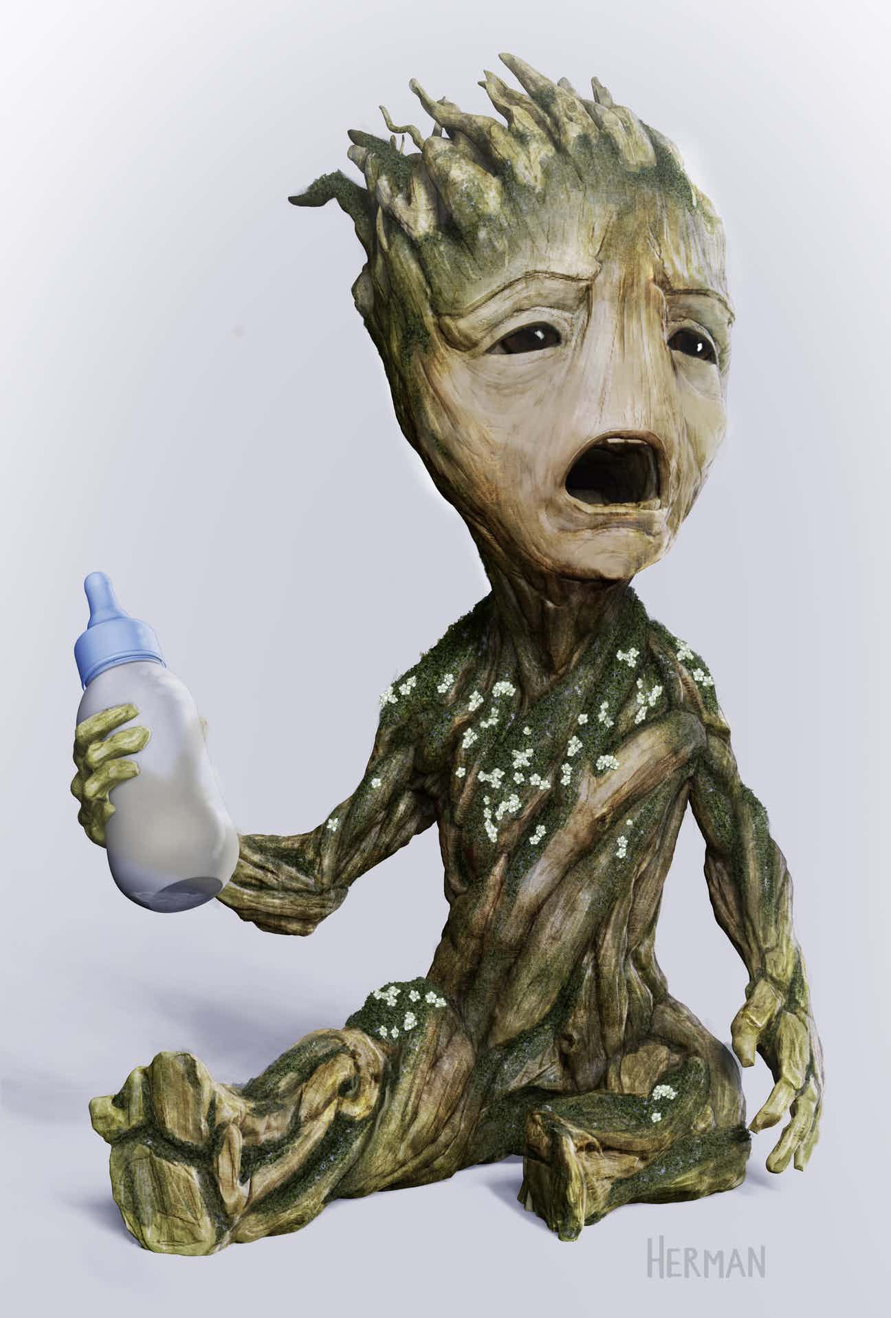 Marvel Avengers 3d Wallpaper Guardians Of The Galaxy Vol 2 Baby Groot Concept Art Will