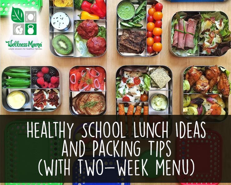 Healthy School Lunch Ideas and Packing Tips Wellness Mama - how to plan weekly meals for two