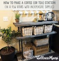 How to Build a Tea & Coffee Station Table (or Bar ...