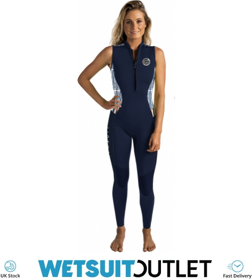 2018 Rip Curl G-bomb Womens 1 5mm Front Zip Long Jane Wetsuit Navy