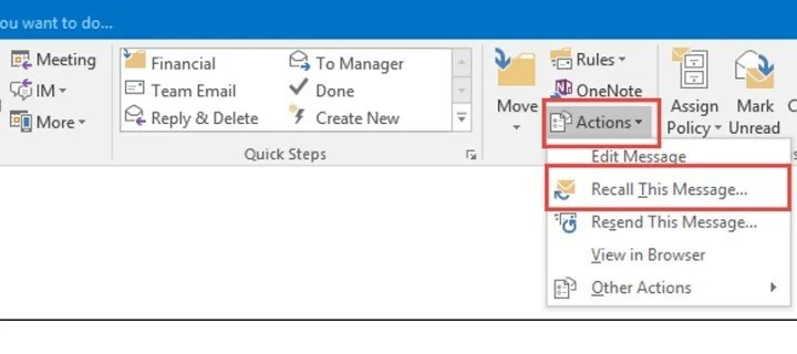Users complain recalling Outlook emails almost never works