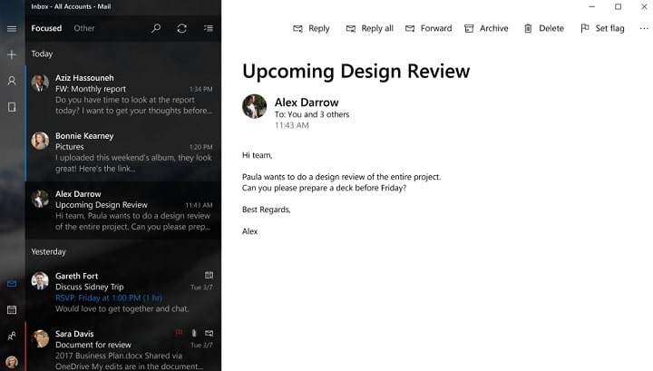 Here\u0027s an interesting Project NEON Mail App design concept for