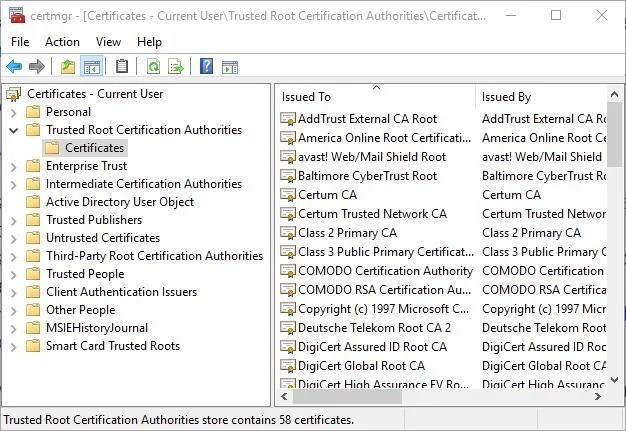How to install Windows 10 root certificates