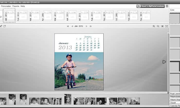 Set up a new calendar with personalized calendar software