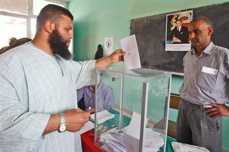 Voting in Morocco