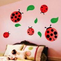 Ladybug Wall Decals - ladybug stencil 4   ladybugs ...