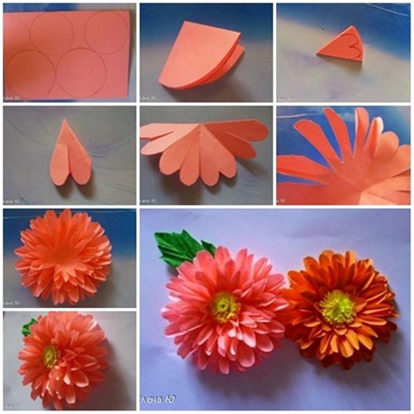 Wonderful DIY Paper Dahlias Flower