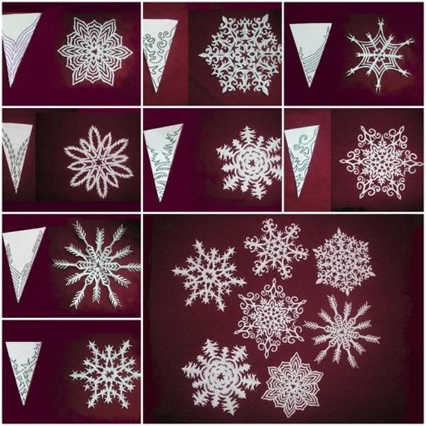 Wonderful DIY Paper Snowflakes With Pattern - snowflake template