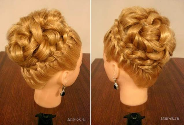 Hair Updo Wonderful Diy Elegant Hairstyle With Braids And Curls