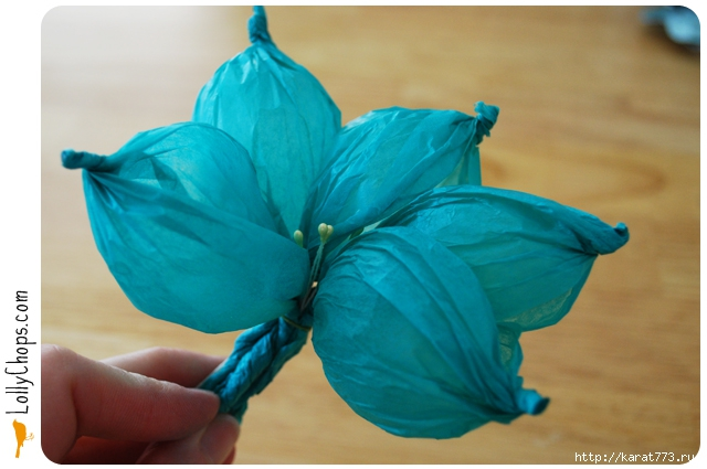 how to make flower by using paper