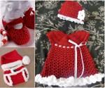 Free Christmas Crochet Baby Dress Pattern