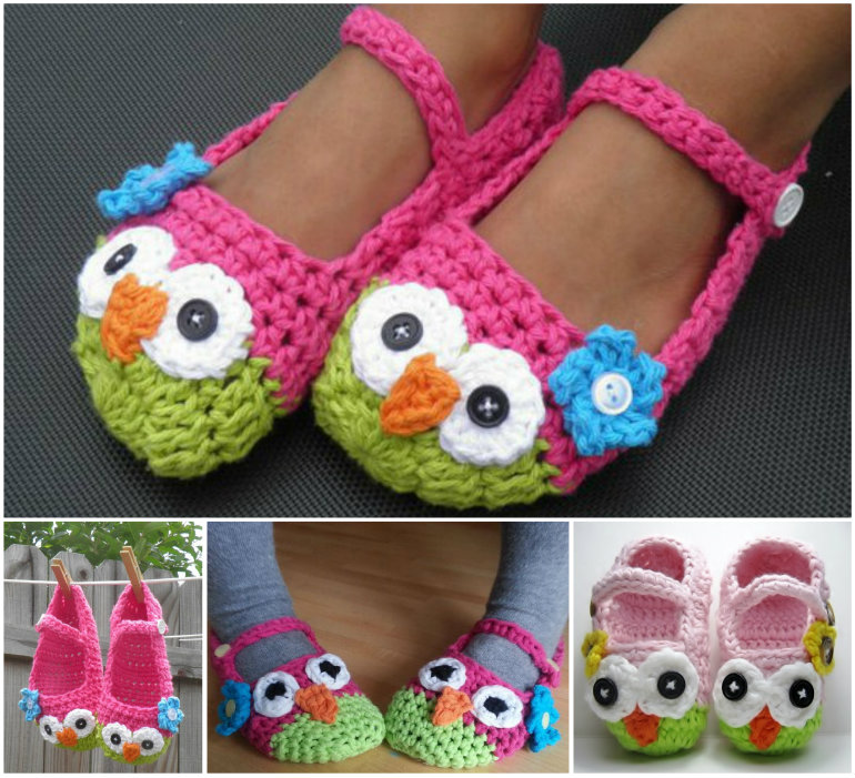 Homemade Hello Kitty Crochet Slippers