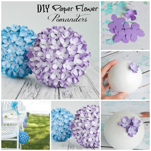 paper flower ball centerpiece