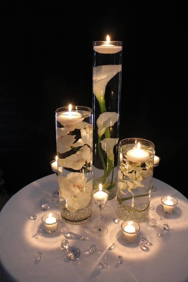 Bougie Décorative Wodnerful Diy Unique Floating Candle Centerpiece With Flower