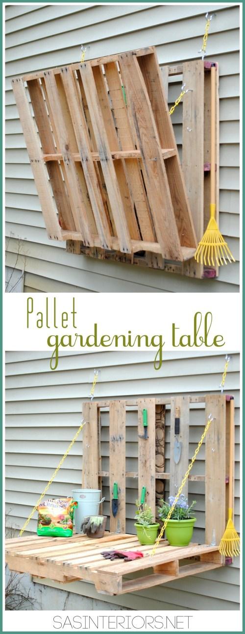Medium Of Pallet Gardens Pinterest