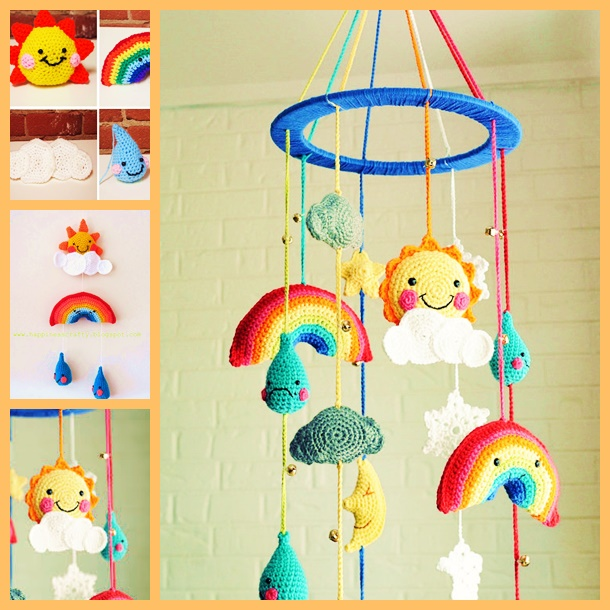 Wonderful Diy Crochet Baby Rainy Day Mobile