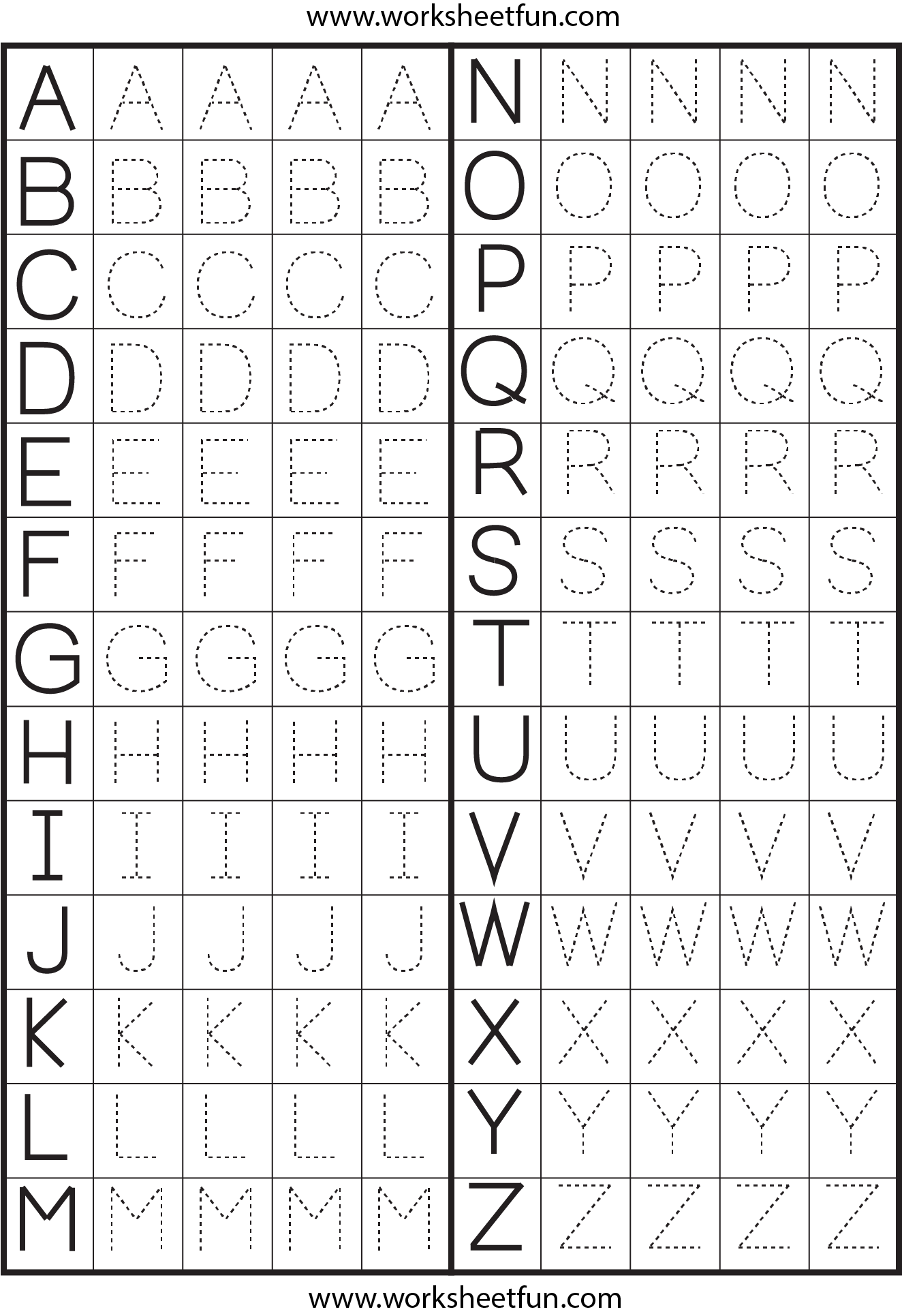Letter Tracing  1 Worksheet / FREE Printable Worksheets