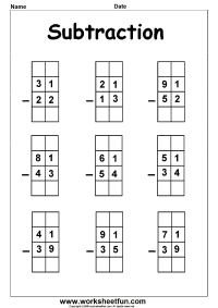 2 Digit Borrow Subtraction  Regrouping  5 Worksheets ...