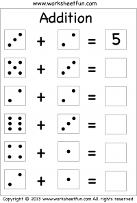 Single Digit Addition Three Worksheets Free Printable