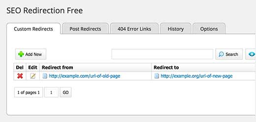 SEO Redirection Plugin