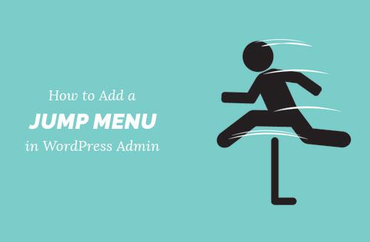 Add a Jump Menu in WordPress admin area