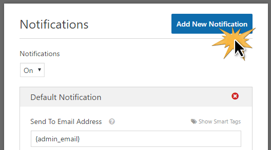 adding a donor receipt notification