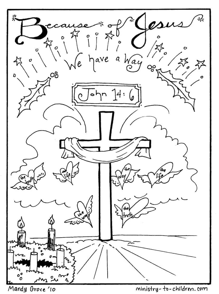 Children's coloring page jesus - Printable Coloring Pages Jesus