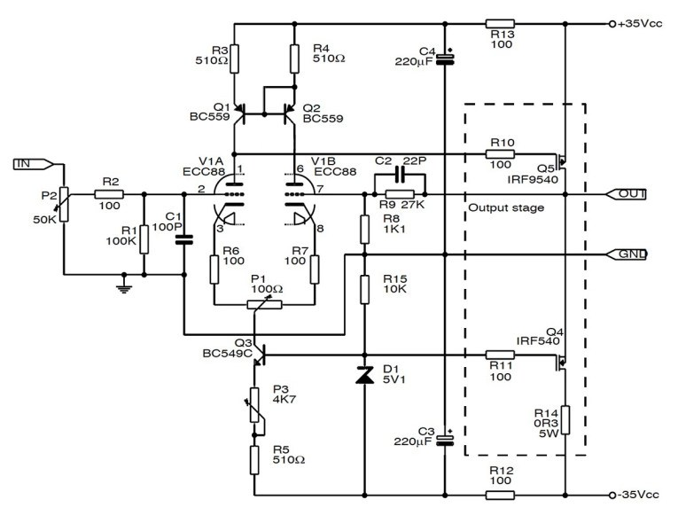 solid state amp wiring diagram