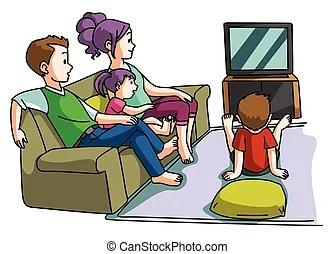 Watching Tv Clipart Vector Graphics 7221 Watching Tv Eps