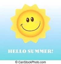 Sommerfreude, text, hallo, sonne. Sommer, sonnenbrille ...