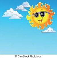 Sonne, sonnenbrille. Sonne, -, sonnenbrille, illustration ...