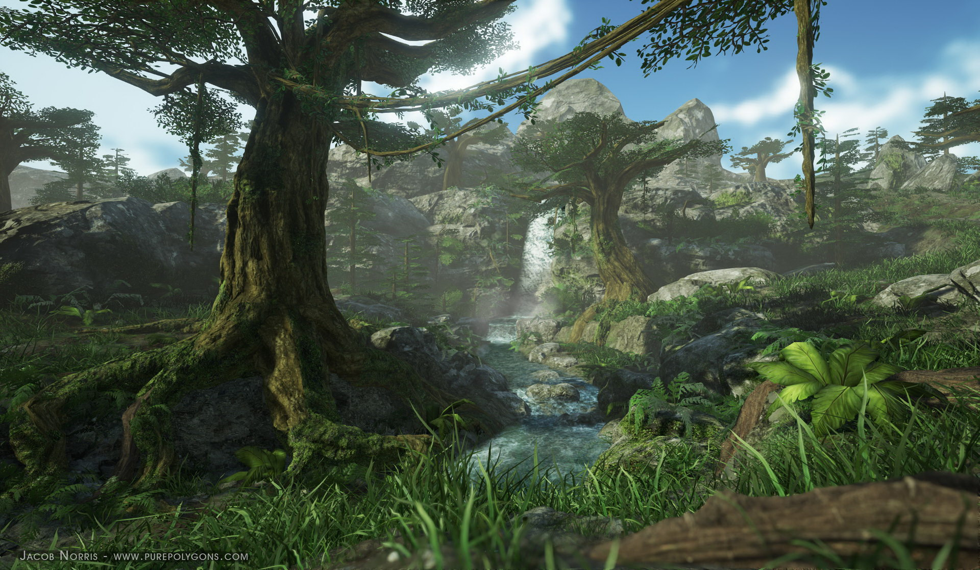 Unity 3d Wallpaper Naughty Dog Artist Created Procedural Nature Environment