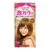 KAO LIESE PRETTIA Bubble Hair Dye Marshmallow Brown 1set ...