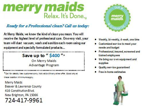 About UsMerry Maids Cleaning Service in Beaver, PA 15066