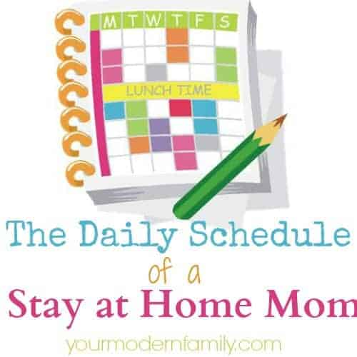 daily schedule of a stay at home mom - housework schedule