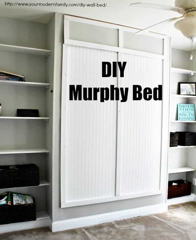 Ikea Fold Down Table Easy To Build Diy Wall Bed For $150 - Queen Murphy Bed