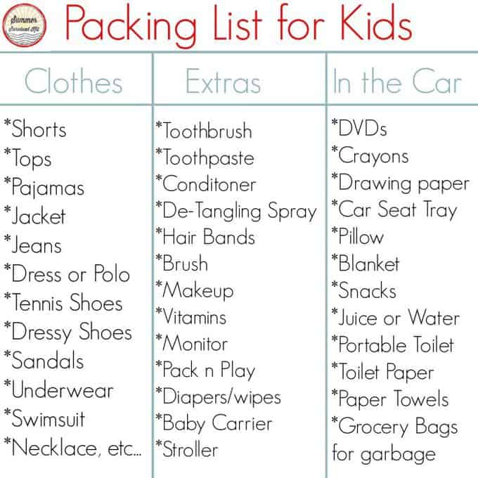 Packing for a trip with kids (5 tips!)- Your Modern Family - packing lists